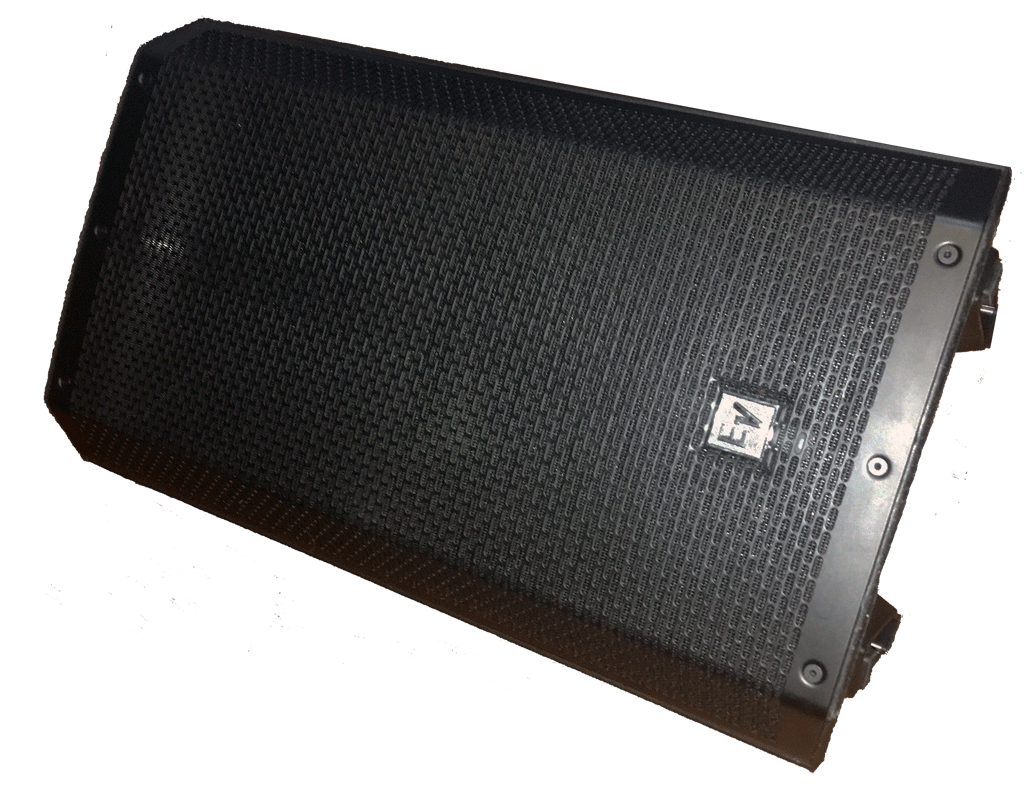 Electrovoice ZLX-12P used as a vocal foldback / monitor
