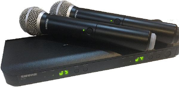 Shure BLX Wireless Mic system with two PG mics