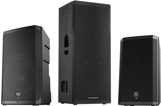 Powered PA speaker hire