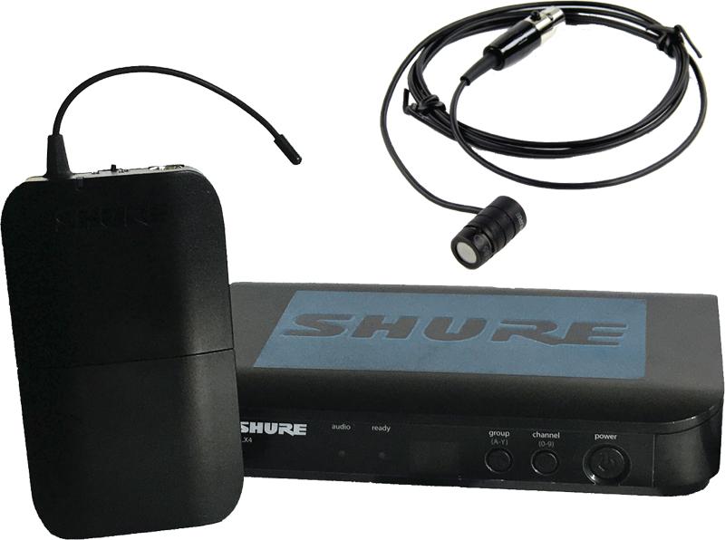 Shure BLX WL185 lavalier / lapel microphone bundle