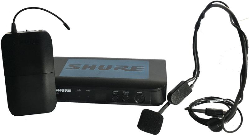 Shure BLX4 PGA31 headset microphone bundle