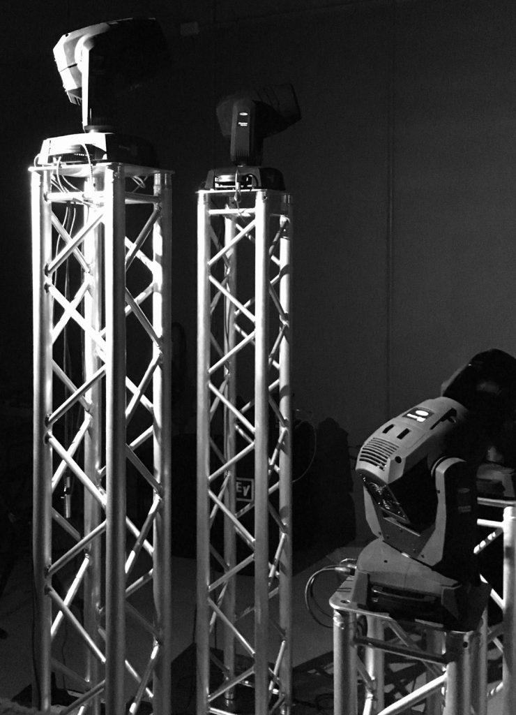 truss lighting podium